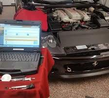laptop and car