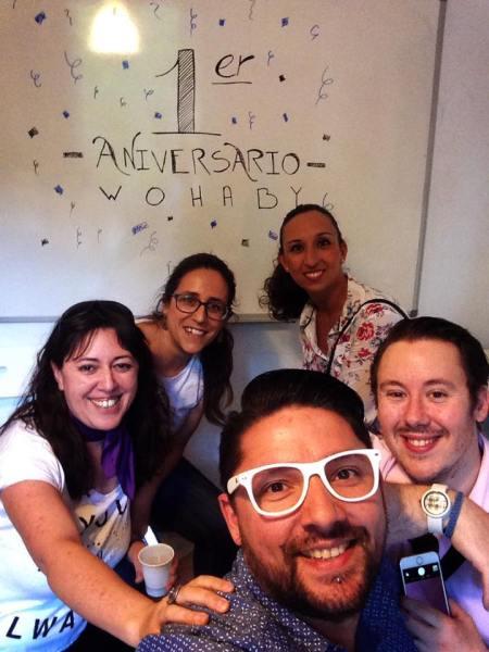 Selfie JuanRa en Aniversario de Wohaby