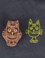 Cat Wooden Block Printing Blocks