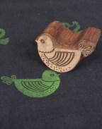 Bird's Pattern Wooden Printing Blocks