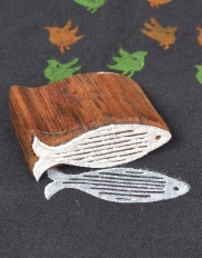 Carved Wooden Blocks for Printing Fish Shape