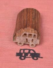 Wooden Stamping Blocks Car Design