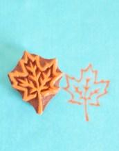 Leaf Designs Wooden Printing Blocks