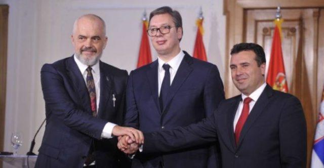Shengeni Ballkanik, Rama-Vuçiç-Zaev vijojnë agjendën. Bojkoton Albin Kurti