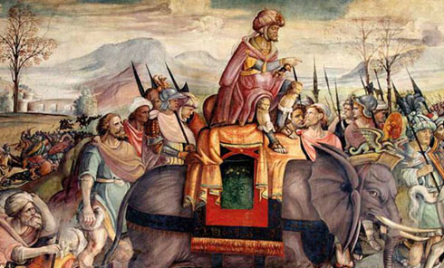 How did Hannibal cross the alps?