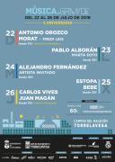 El Festival Música en Grande aterriza en El Malecón entre el 22 y el 26 de julio, con beneficios para los abonados gimnásticos
