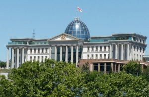 Die Presidensiële paleis in Tbilisi, Georgië