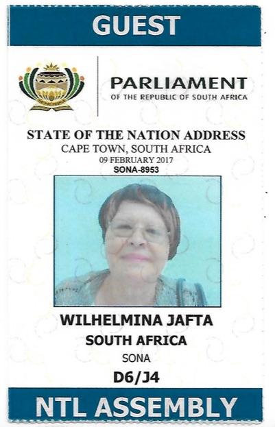 Wilhemina by die Parlementsopening