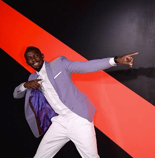 Jody gesels met Usain Bolt