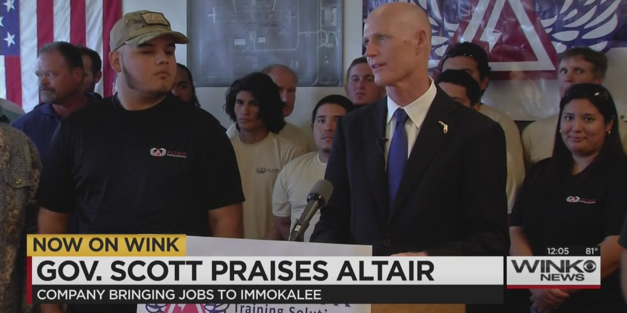 Rick Scott Praised Company That is Delinquent in Its Property Taxes  and Never Met Its Hiring Goals