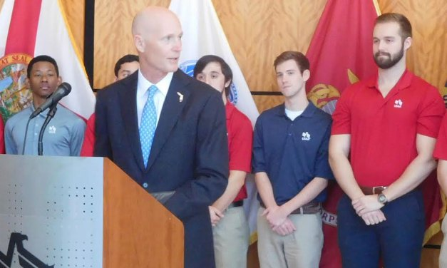 Rick Scott Cannot Decide if He Would Sign a Law Allowing Guns into Government Meetings and Airport Terminals