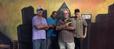 Paul Dirks, Robert Leonard, Steve Richman & Paul Cater Deaton ready for action. (Photo: Bonnie Goodman Erb)