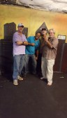 Paul Dirks, Robert Leonard, Steve Richman & Paul Cater Deaton cutting up between tunes. (Photo: Bonnie Goodman Erb)