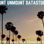 How to mount unmount datastore in esx6.5