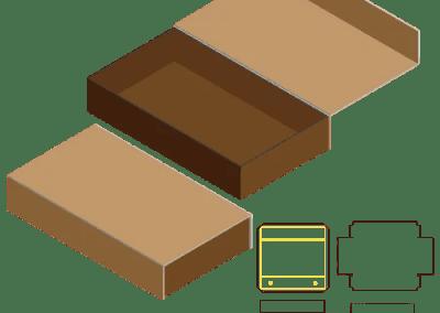 書型折盒盒型