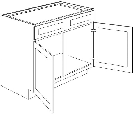 sb48 light gray shaker double door sink base cabinet48 wide x 34 1 2 high x 24 deep