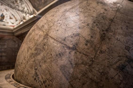 Il globo di Vincenzo Maria Coronelli, Salone Furietti, Civica Biblioteca Angelo Mai