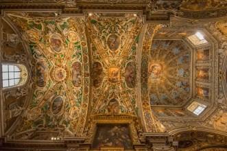 Chiesa Santa Maria Maggiore, particolare della decorazione della volta della navata laterale sx