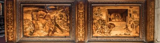 Tarsie di Lorenzo Lotto a sx, Basilica di Santa Maria Maggiore