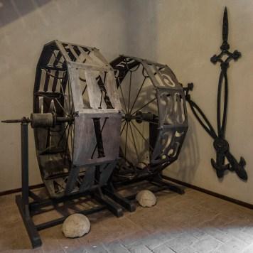 Ingranaggi del primo orologio.Torre dell'orologio