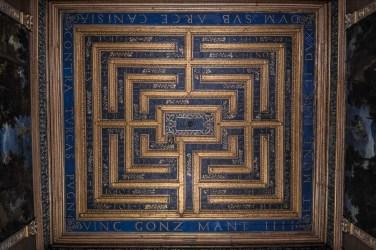 Stanza del labirinto, particolare del soffitto