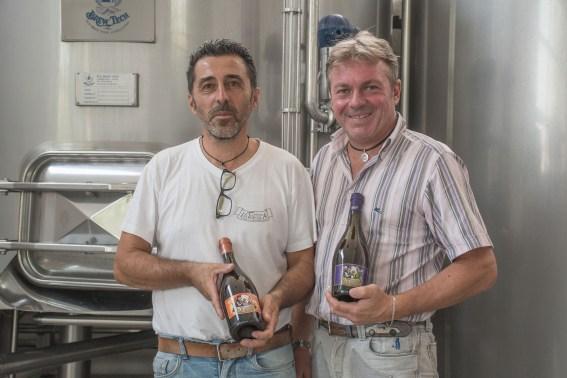 Maurizio Frattini e Gianni Grossini. Birrificio La Tresca. Baraggia