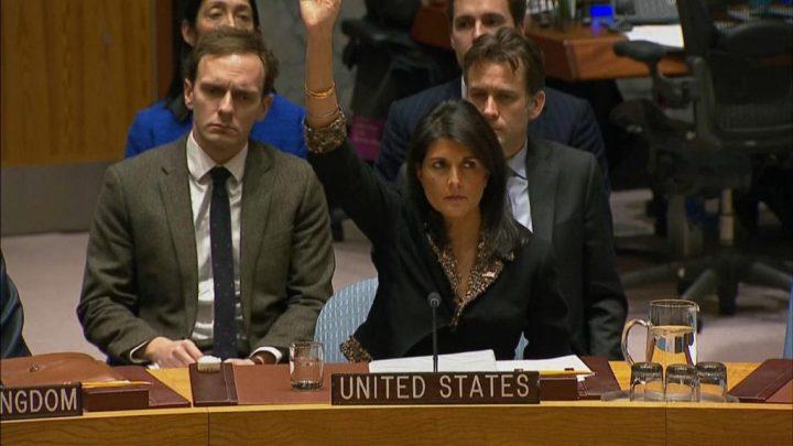 US vetoes resolution Jerusalem