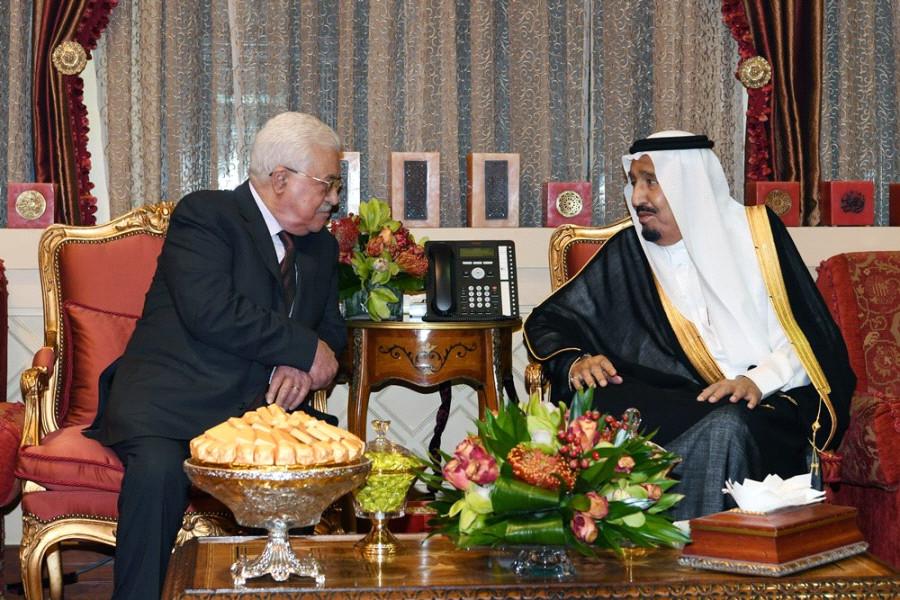 saudi king palestine president abbas