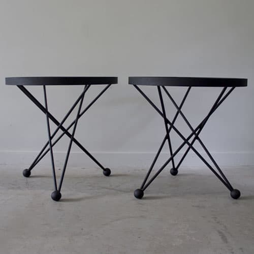 black atom side tables