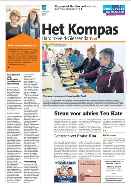 Adverteren in Het Kompas Hardinxveld Giessendam