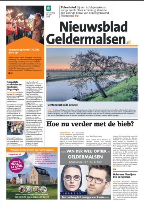 Adverteren in het Nieuwsblad Geldermalsen