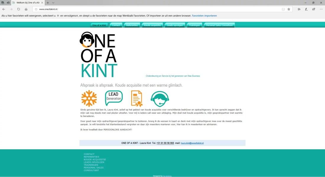 Voorbeelden van websites: OneofaKint