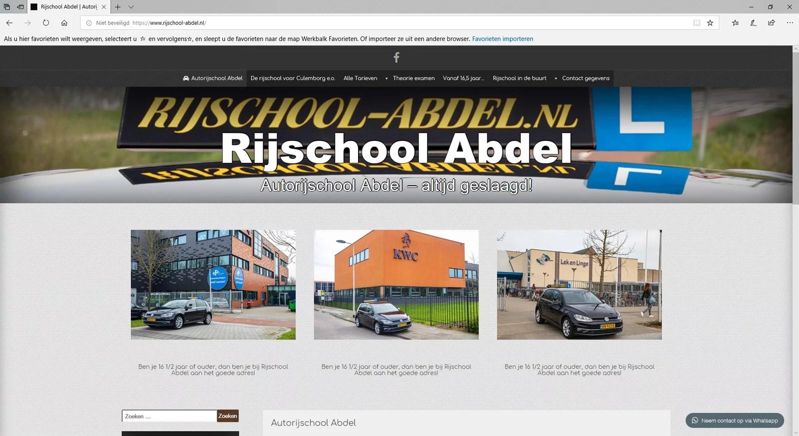 Een website voor een autorijschool in Culemborg
