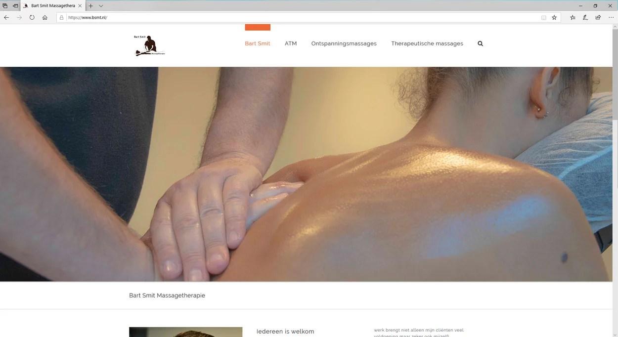 Een website voor massagetherapie
