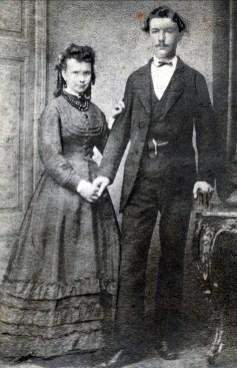 1874, mariage Agnes Bensdorp 1844-1928 et Piet van Erkel 1848-1884
