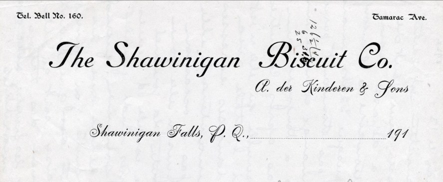 1913, entreprise rue Tamarac