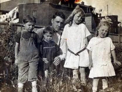1914, Albert à gauche et son père Horace Thivierge
