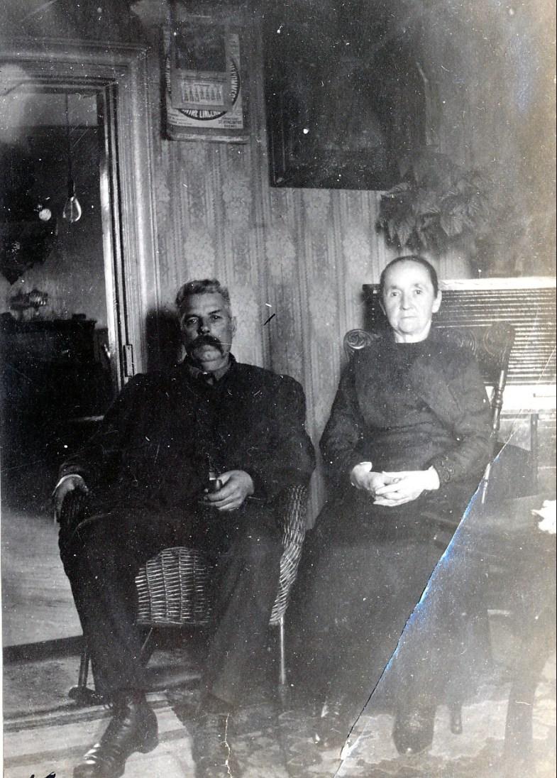 1920, Napoléon et Marie-Jeanne (pépère et mémère) Fournier