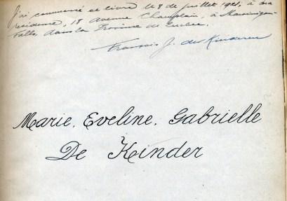 1921, Album de Gaby