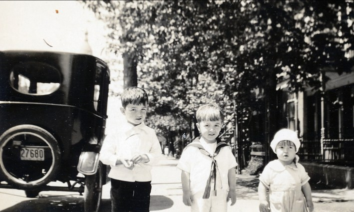 1928, Louis, Robert et Maurice de Kinder