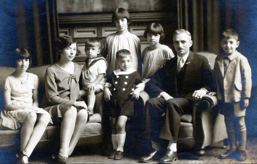 1929, Jeanne, Germaine, Maurice, Henriette, Robert, Gaby, François et Louis de Kinder
