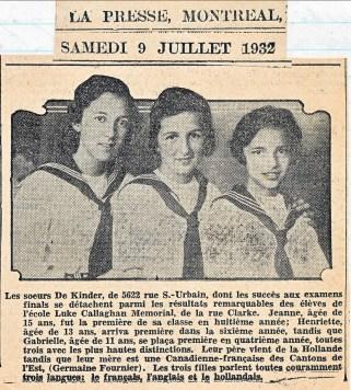 1932-3 soeurs de Kinder