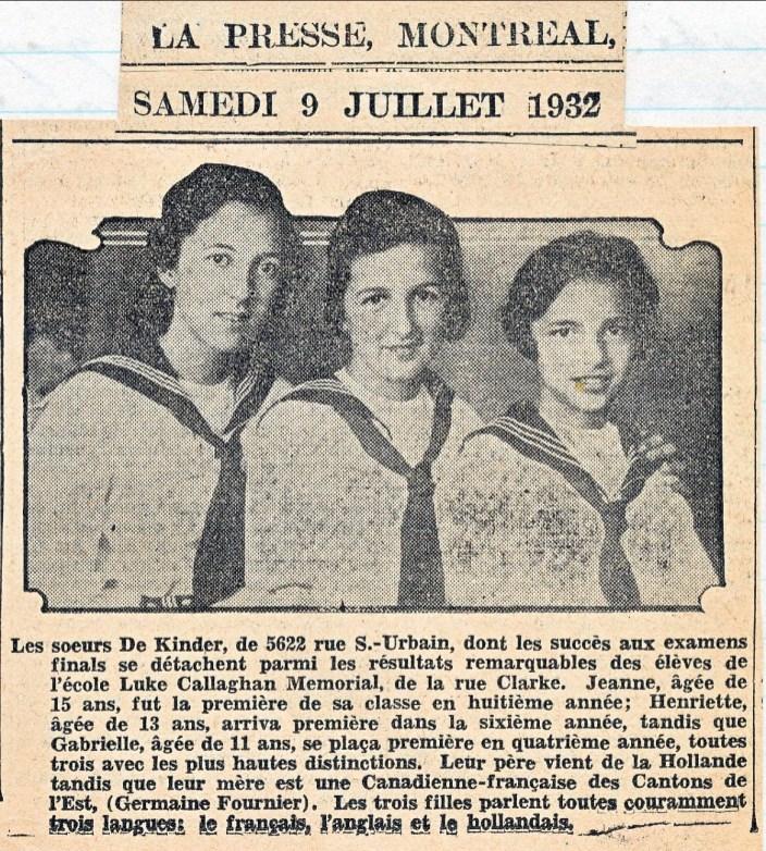 1932-3 soeurs