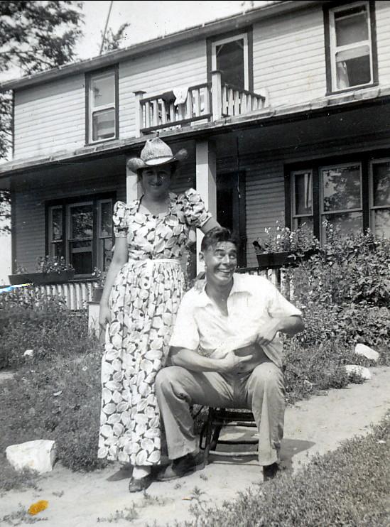 1939, Henriette et Albert à la ferme Joly