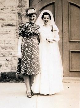 1940, 1er juin, mariage Simone Joly - Henriette et Simone