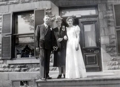 1940, 25 mai - Albert, tante Ida, Henriette