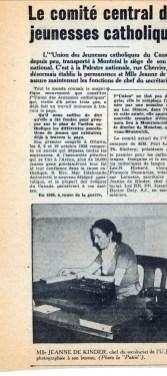 1941, Jeanne de Kinder au CCJC