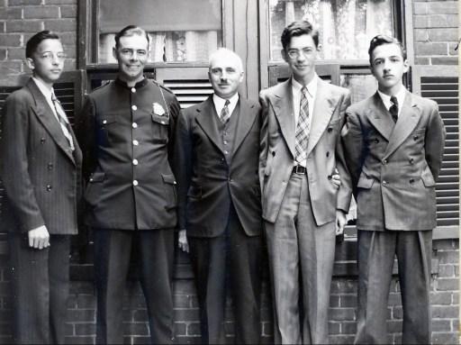 1941, Maurice de Kinder, Albert Thivierge, François, Louis et Robert de Kinder