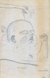 1941, dessin de Robert de Kinder, portrait de Paulette