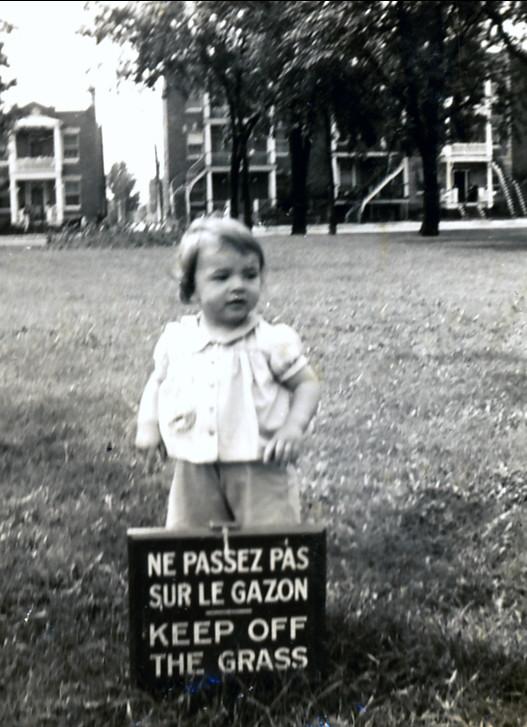 1942, Paulette à 1½ ans au parc Molson